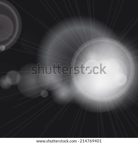 Glittery lights silver abstract background. - stock photo