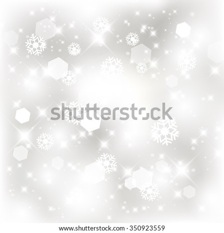 Glittery lights silver abstract Christmas background. - stock photo