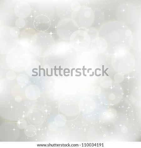 Glittery silver abstract Christmas background. For vector version, see my portfolio. - stock photo