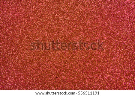Glittery texture. Shining background. Red glitter