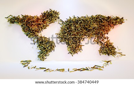 Global arms proliferation. 3D computer generated concept. - stock photo