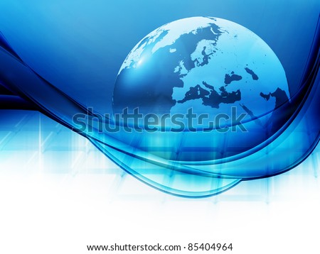 Global background - stock photo