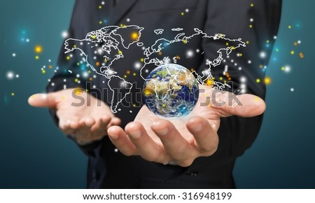 Global business. - stock photo