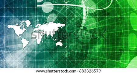 Global Business Abstract Background for Presentation