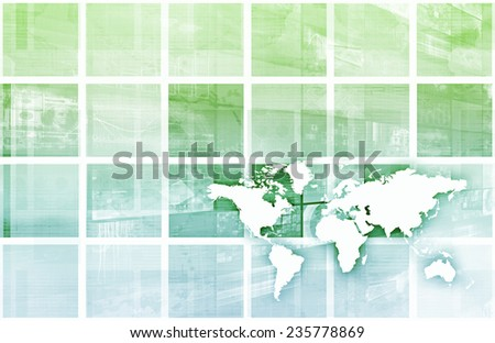 Global Business and Success in Growth Art - stock photo