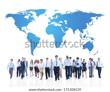 Global Business Communications - stock photo