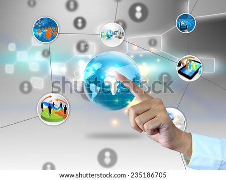 Global business connected. - stock photo