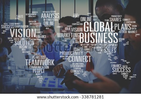 Global Business Cooperation Finance Vision Plans Concept - stock photo