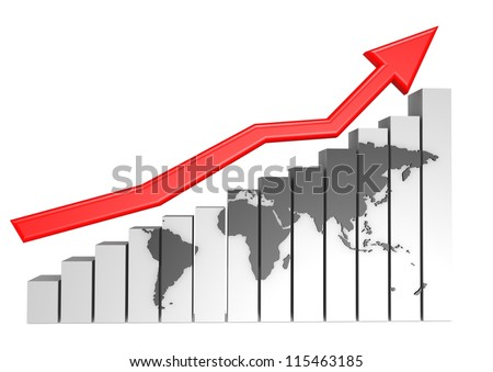 Global Business Graph - stock photo
