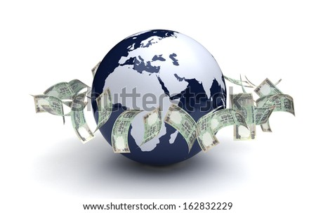 Global Business Indian Currency - stock photo