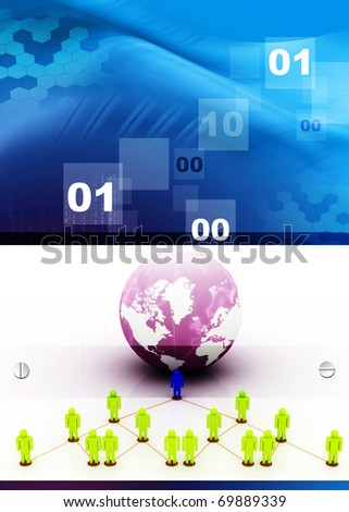 Global Business Network - stock photo