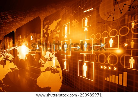 Global business network concept 	 - stock photo