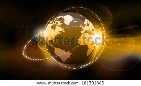 Global business network concept. Globalization concept	 - stock photo