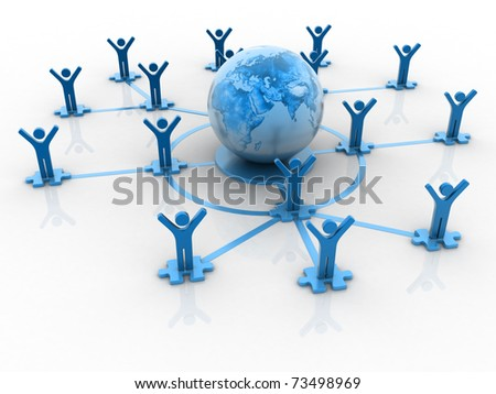 Global business networking concept - stock photo