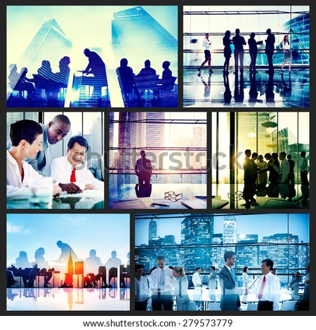 Global Business People Corporate Collection Concept