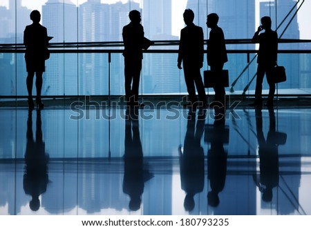 Global Business People in Asia, Hong Kong - stock photo