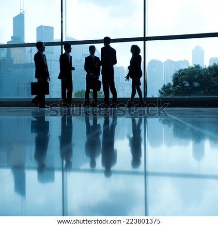 Global business people in Asia, Hong Kong. - stock photo