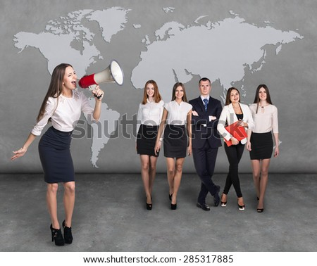 Global Business People Meeting Concept. Elements of this image furnished by NASA - stock photo