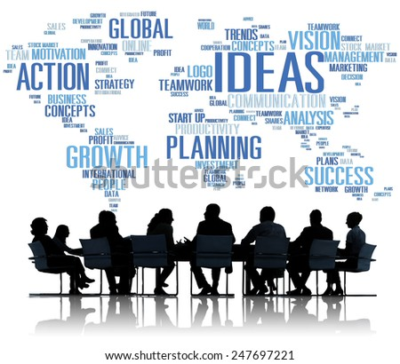 Global Business People Meeting Creativity Ideas Concept - stock photo