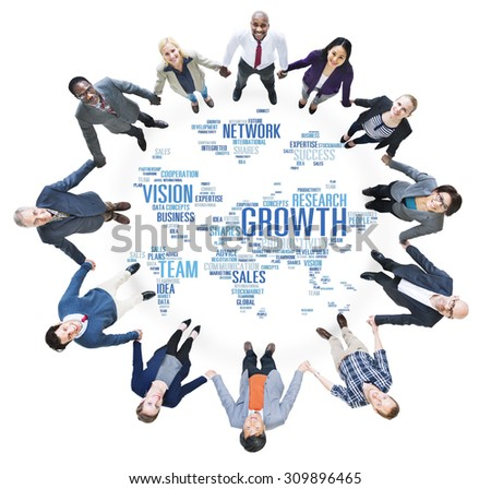 Global Business People Togetherness Community Success Growth Concept - stock photo