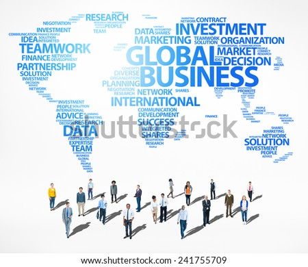 Global Business Success Growth Investment Diverse Ethnic Concept - stock photo