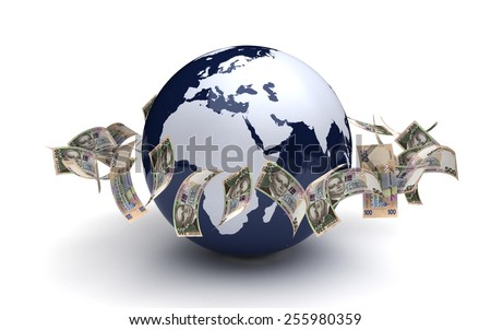 Global Business Ukrainian Hryvnia Currency - stock photo