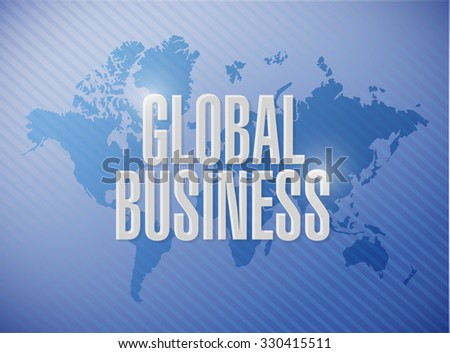 global business world map sign concept illustration design graphic - stock photo