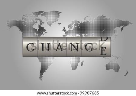 Global Change - stock photo