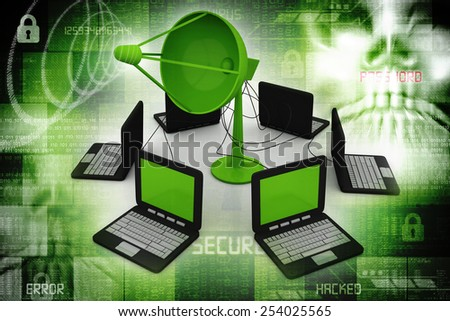 Global communication - stock photo