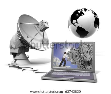 Global communication - stock photo