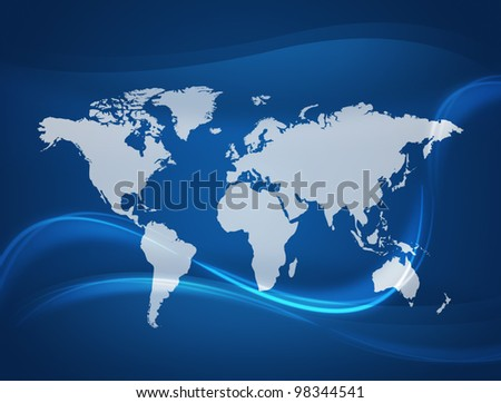 Global Communication background.connected World concept. - stock photo