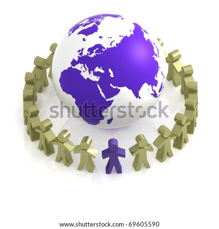 Global communication concept - stock photo