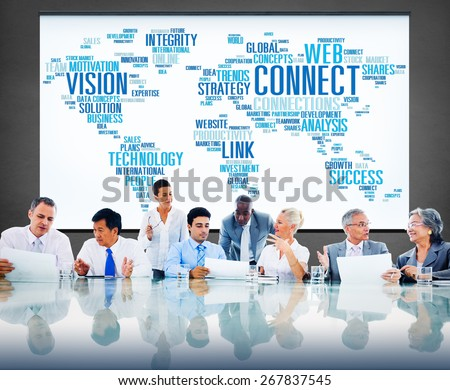 Global Communication Connect Worldwide Link Share Concept - stock photo