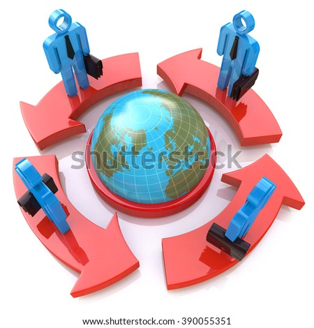 Global Communication in the design of the information related to the communication of people - stock photo