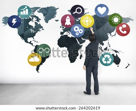Global Communication World Earth Connection Network Concept - stock photo