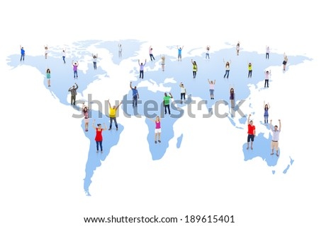 Global Communications - stock photo