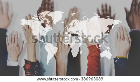 Global Community International Networking Concept - stock photo