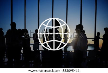 Global Community International Worldwide World Connected - stock photo