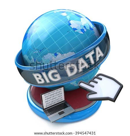 Global computer innovation technology Big Data  - stock photo