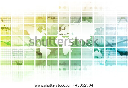 Global Conference World as a Abstract Background - stock photo