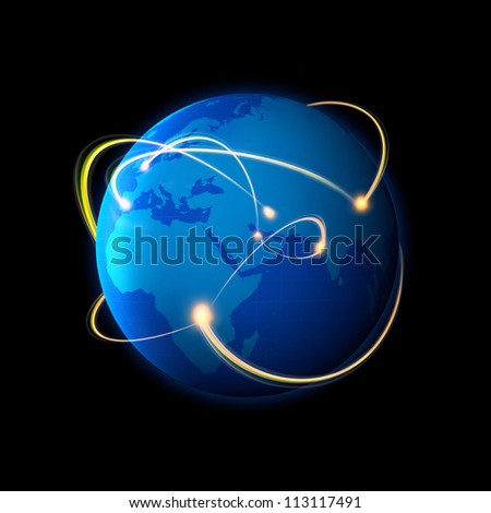 Global Connection - stock photo