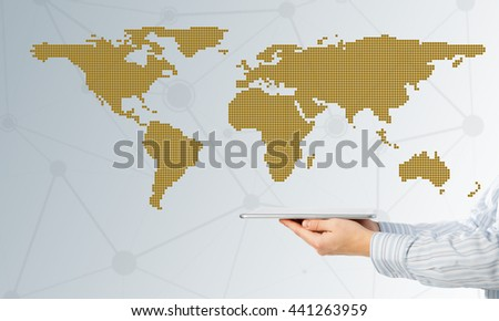 Global connection as concept - stock photo