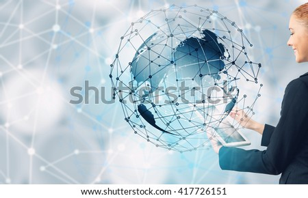 Global connection concept - stock photo
