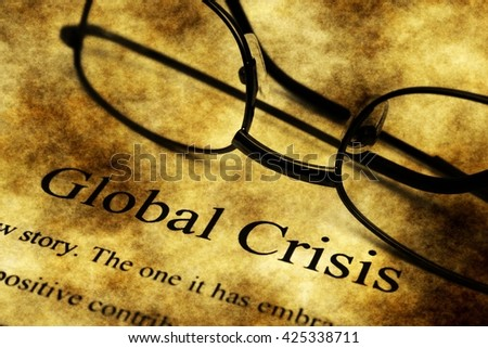 Global crisis grunge concept