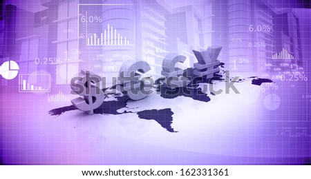Global Currencies - stock photo