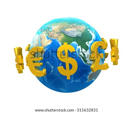 Global Currencies Around a Globe