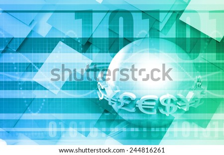 Global Currencies as a Presentation Abstract for Money - stock photo