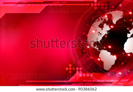 Global digital technologies - stock photo