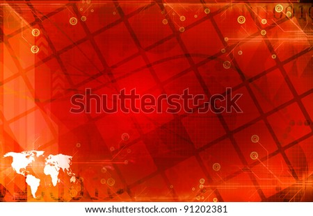 Global digital technology - stock photo