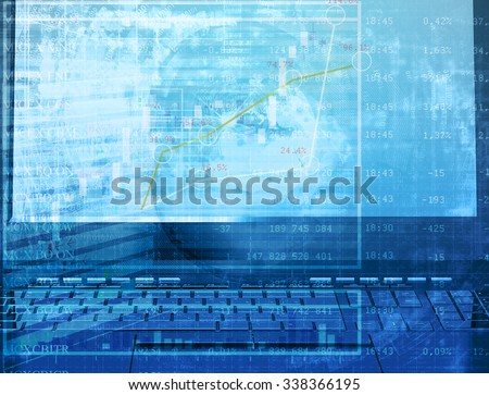 Global e-banking technology.Finance abstract image - stock photo